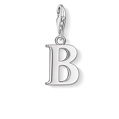 Thomas Sabo Women-Charm Pendant Letter J Charm Club 925 Sterling Silver 0184-001-12 Ui4oh