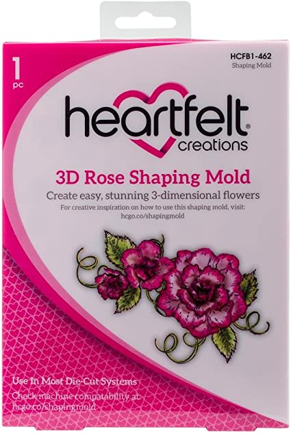 HCD1-7110+HCPC3752 ~ NEW Lot Set Heartfelt Creations Dies+Stamp Set ~ Classic Rose