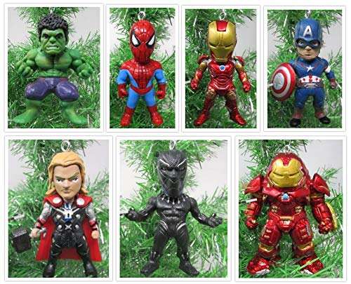 Christmas Ornaments Team Avengers Comic Super Hero Set Featuring Iconic Avenger -