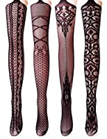 Vero Monte 4 Pairs Women's Fishnet Tights Suspender Pantyhose Stretchy Stockings