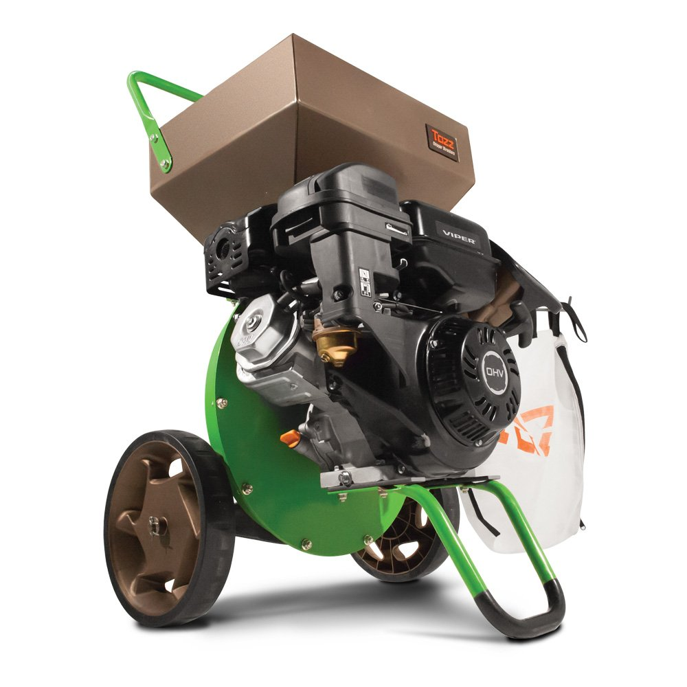 Earthquake Tazz K33 Chipper Shredder, 301cc Gas Powered 4-Cycle Viper Engine, 5 Year Warranty by Earthquake