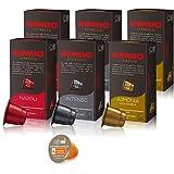 キンボ Kimbo コーヒー ネスプレッソ マシン用 互換カプセル 3種 各2箱 (計6箱セット)