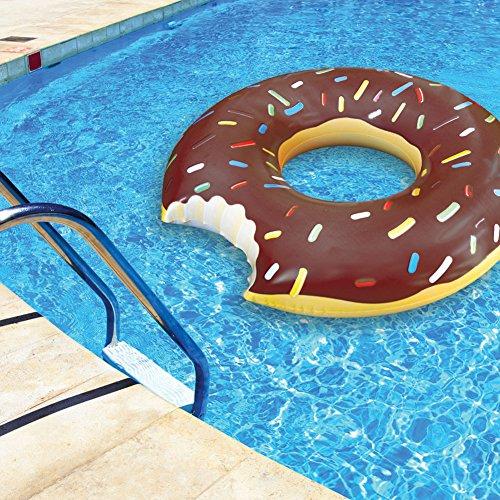 Giant Chocolate Donut Vinyl Pool Swimming Float Tube