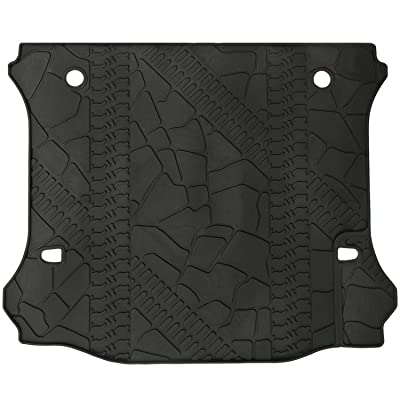 WINUNITE Black Cargo Liner Rear Floor Mat for 2011-2020 Jeep Wrangler Unlimited 4 door TPE Material Cargo Tray All Weather Protector Cover Trunk Cargo Mat with or Without Factory Right Side Subwoofer: Automotive