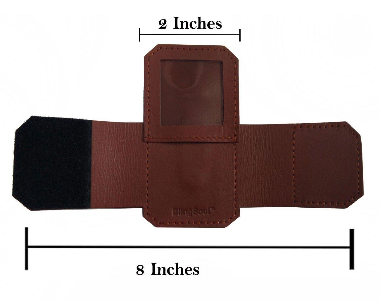 100% -Genuine Leather 3M Littmann Stethoscope Case for Women Men - MDF Adscope Stethoscope Holder Clip, Medical Nursing Accessories ADC Steth Holster Cover Kit for Nurse Cardiology Doctor (Brown) by BlingSoul (Image #2)