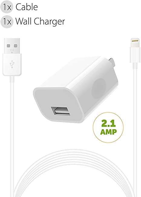 iPhone Charger Set Boxgear (2 Pack) for, iPhone Xs, XS Max, X 88 Plus 7 Plus 7 6S 6 Charger Power Adapter Apple MFi Certified Lightning to