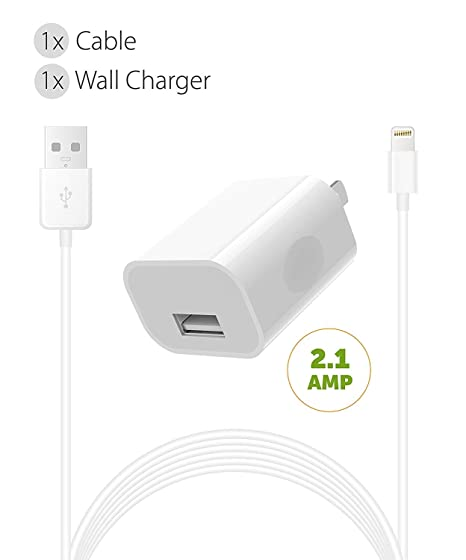 Amazon.com: iPhone 8 Plus Cargador Apple Lightning Cable Kit ...