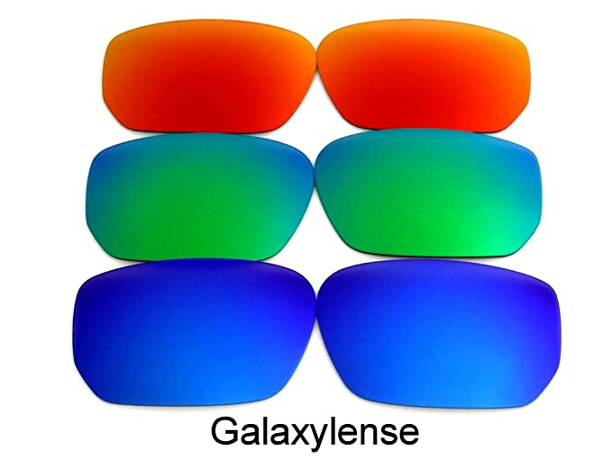 7fca22920a Image Unavailable. Image not available for. Color  Galaxy Replacement Lenses  For Oakley Style Switch Blue Green Red 3 Pair