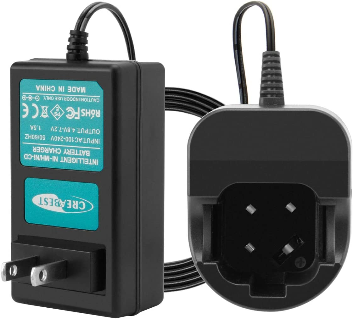 Creabest New 4.8v-7.2v Battery Charger Compatible with Dremel 757-01 755-01 Ni-MH/Ni-CD Batteries(NOT for Li-ion Battery)