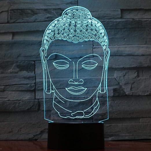 3D Luz Nocturna Para Niños ,Buda,Decoracion Cumpleaños ...
