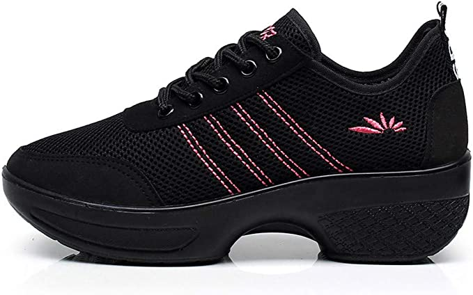 Dance Trainers Ladies UK~HOTSELL〔☀ㄥ☀〕Womens Girls Jazz /& Modern Dance Shoes Latin Dance Shoes Ladies Womens Mesh Ballroom Dance Sneaker Trainers Lightweight Lace-up Running Shoe