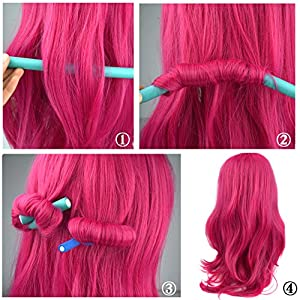 """Yookat 42-pack 9.4"""" Twist-flex Hair Roller Curling Rods Set in 7 Sizes Soft Flexible Hair Curler Makers DIY Hair Styling Tools Harmless for Dry/Wet Hair Mother's Day Gift"""