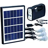 Solar panel: 5W with lamb, 3 PCS LED lights and mobile charger