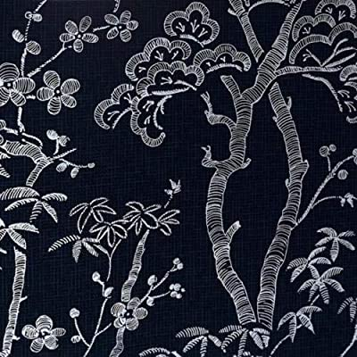 A-Street Prints Bonsai Tree Wallpaper, Navy, 20.5-Inch x 33 ft: Kitchen & Dining