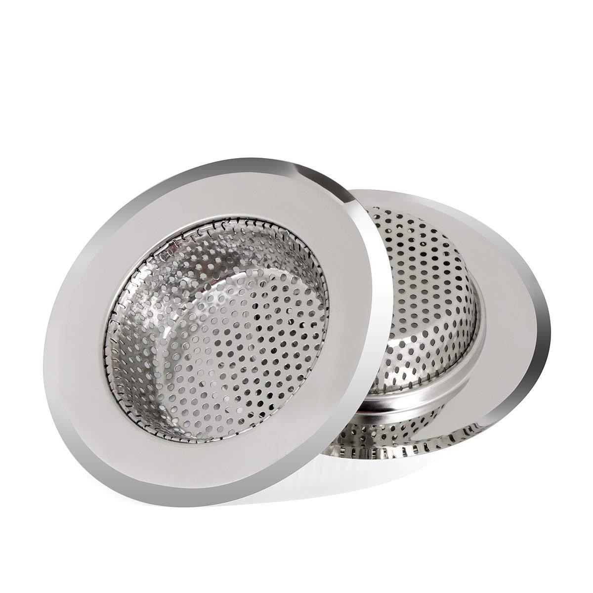Larnaca - Colador para fregadero de cocina, 2 piezas, acero ...