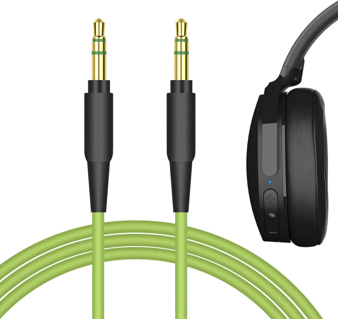 Geekria QuickFit Audio Cable Compatible with Sküllcandy Hesh, Hesh 2, Hesh 3, Grind, Aviator, Mix Master, Crusher ANC, Crusher EVO Headphones, 3.5mm AUX Replacement Stereo Cord (Green 5.6FT)