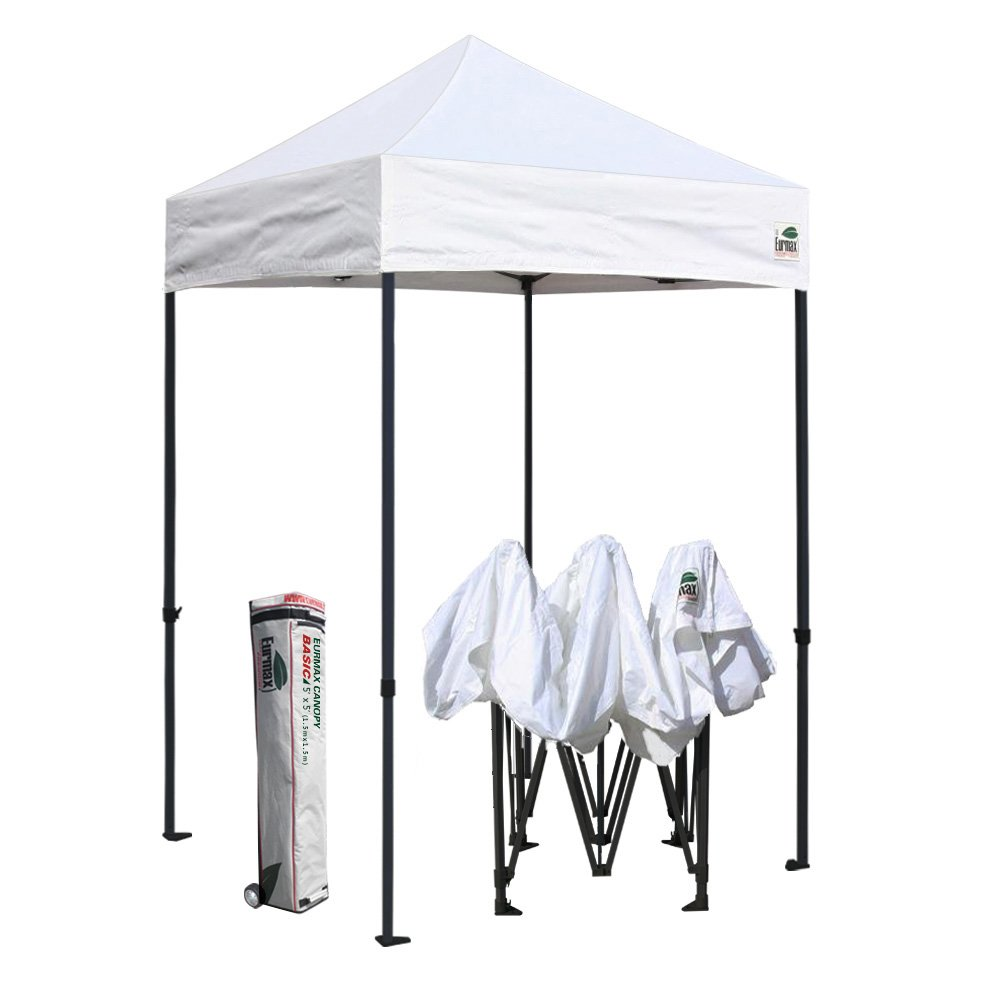 Amazon.com  Eurmax 5x5 Ez Pop up Canopy Outdoor Heavy Duty Instant Tent Pop -up Canopy Shelter with Deluxe Wheeled Carry Bag (White)  Garden u0026 Outdoor  sc 1 st  Amazon.com & Amazon.com : Eurmax 5x5 Ez Pop up Canopy Outdoor Heavy Duty Instant ...
