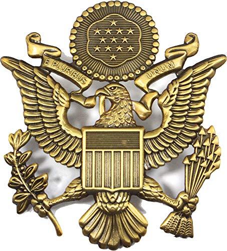 (Fosco Replica US Army Officer Visor Cap Badge - Antique )