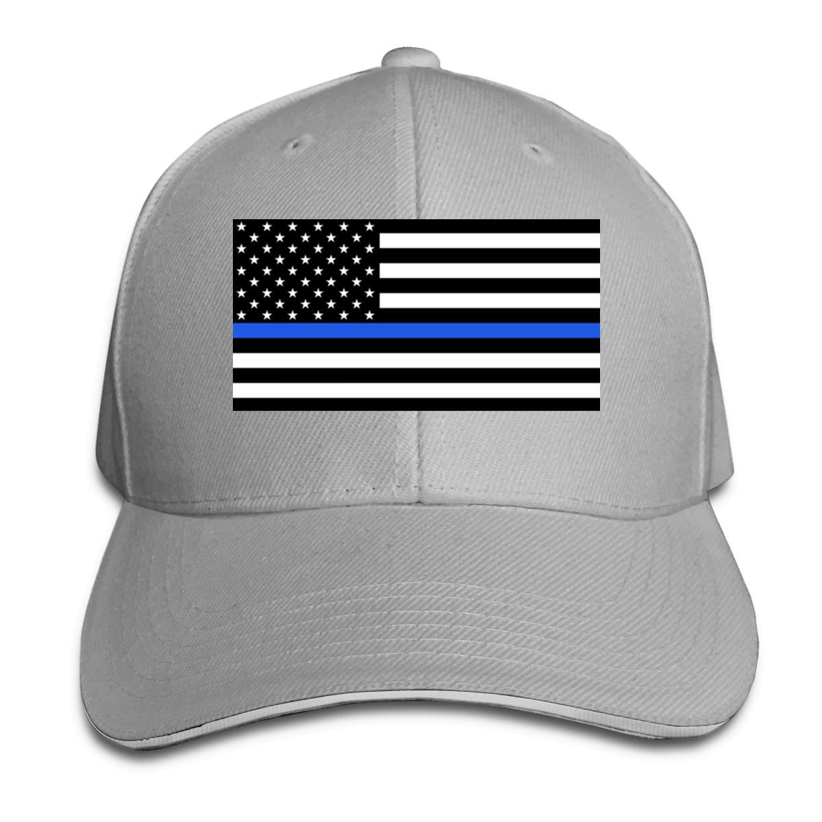shixiaogood Adult Unisex Fashion Support The Police Thin Blue Line American Flag Adjustable Sandwich Baseball Caps for Men/&Womens