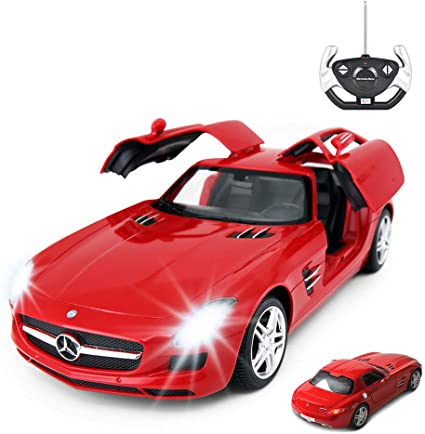 Amazon.com: RASTAR RC Car | 1/14 Scale RC Mercedes-Benz SLS AMG ...