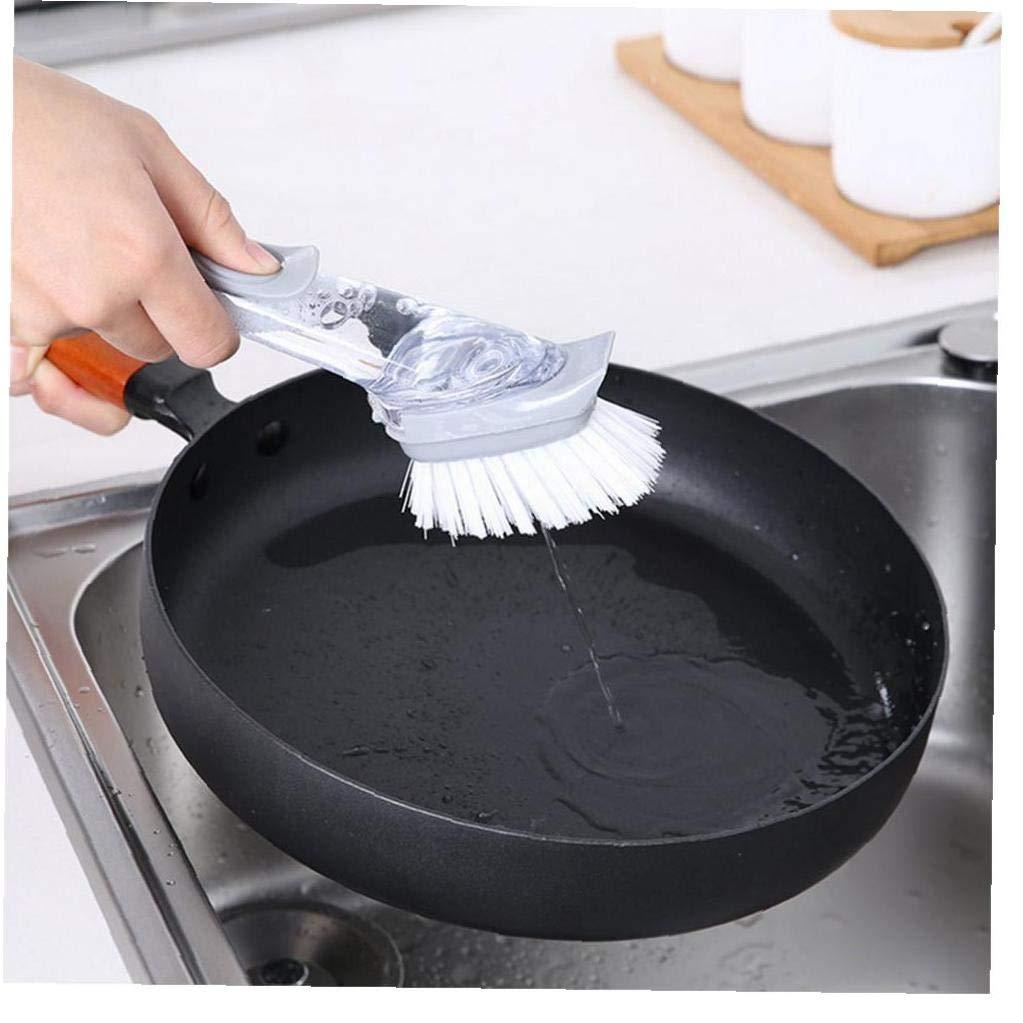 Cocina Hogar para la Con dispensador de jab/ón Estante para fregadero de cocina Utensilios de cocina pr/ácticos Resistente Estante para platos de acero inoxidable de 8.3 x 3.1 x 9.4 pulgadas