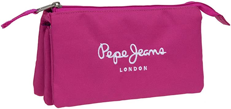 Pepe Jeans Estuche con Tres Compartimentos, Color Rosa: Amazon.es: Equipaje