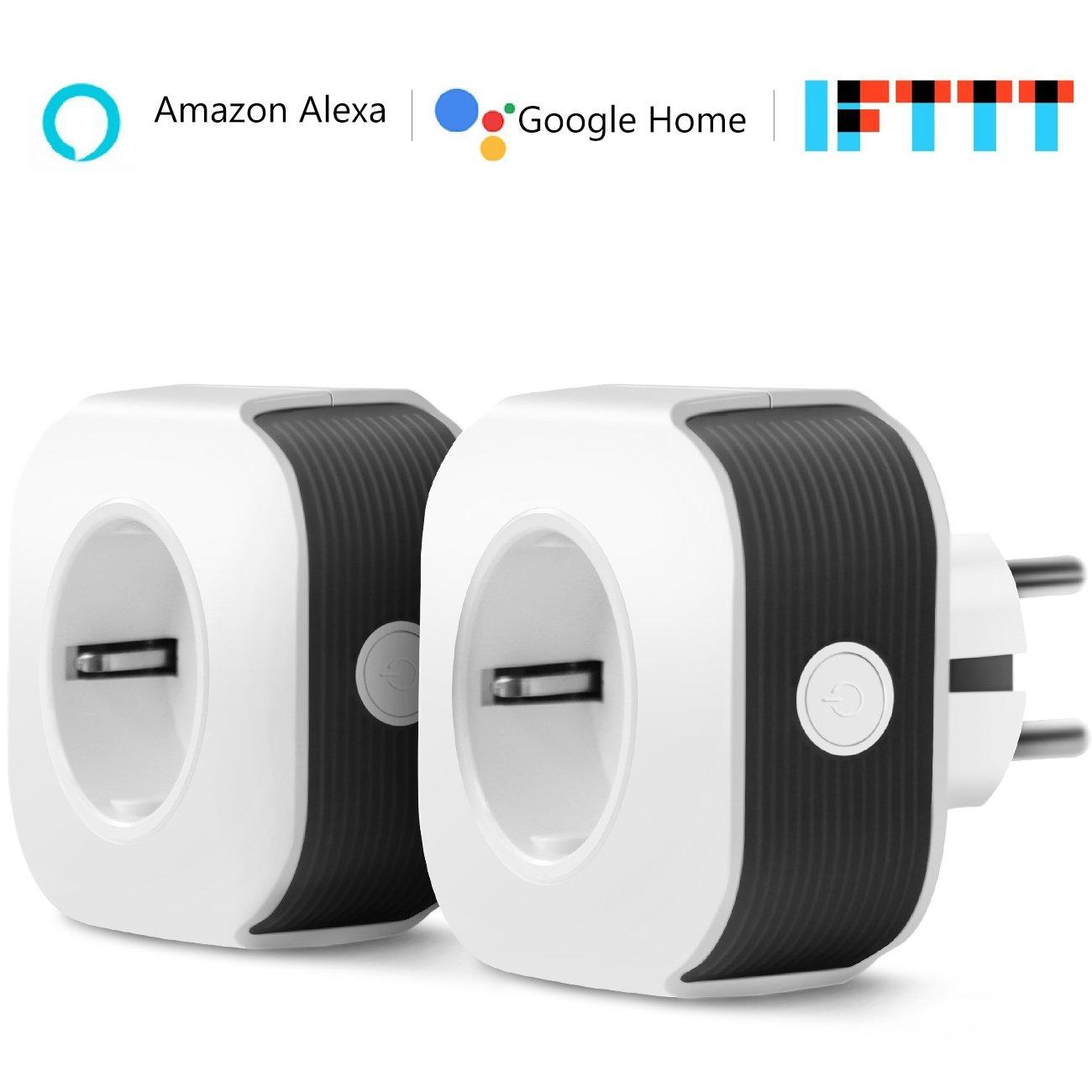 Prise connectée WiFi, Muzili Prise connectée fonctionnant avec Contrôle vocal  Alexa et Google Home, Contrôlable depuis une application mobile depuis n'importe où et n'importe quand (2)