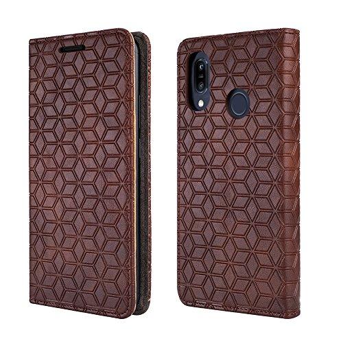 BLU Vivo Xi+ Case Verizon, [Kickstand] [Card Slot+Side Pocket] Premium Soft PU Color Matching Leather Wallet Cover Flip Case Protective Case for BLU Vivo Xi+ (Brown)