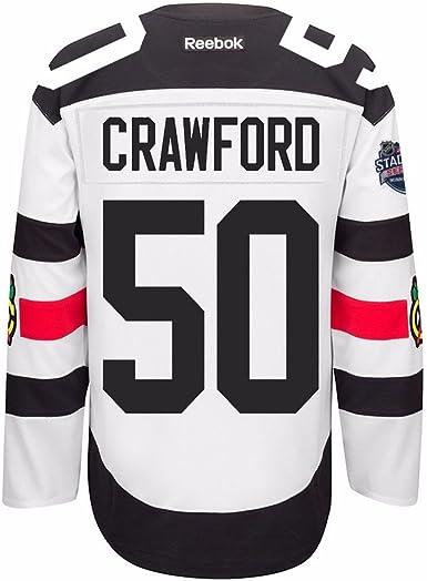 Reebok Corey Crawford Chicago Blackhawks NHL Men's White #50 Stadium Series Official Premier Jersey (S)