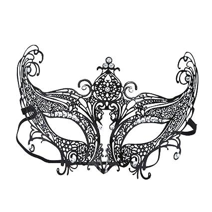 JTWJ Media Cara Máscara de Hierro Mascarada Veneciana de Halloween Metal Diamante Máscara de Zorro Máscara