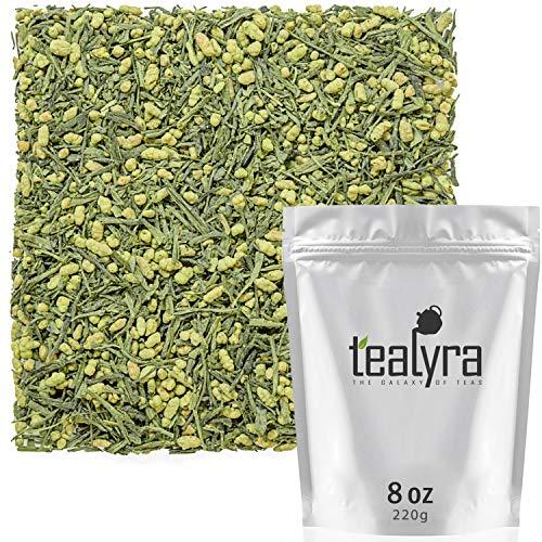 Tealyra - Gen Mai Matcha - Japanese Genmaicha Green Tea Blended with Matcha Powder - Loose Leaf Tea - Caffeine Medium - High Antioxidants - 220g (8-ounce)