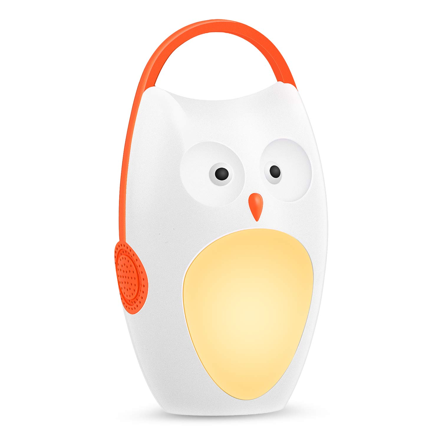 SOAIY Baby Sleep Soother Owl Portable White Noise Shusher Sound Machine with Sleep Aid  Night Light,7 Soothing Sounds with Volume Control,Auto-Timer for Traveing,Sleeping,Baby Carrige. by SOAIY