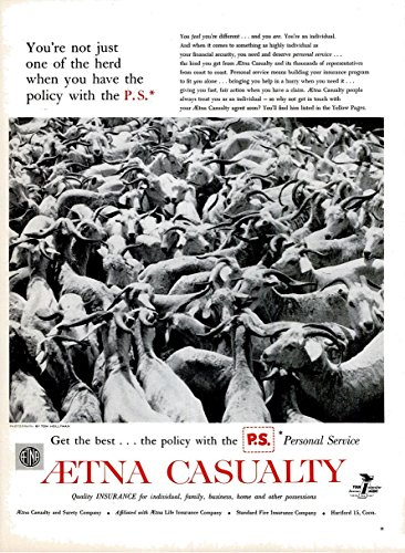 original-print-ad-1959-aetna-casualty-insurance-youre-not-just-one-of-the-herd-vintage-large-part-co