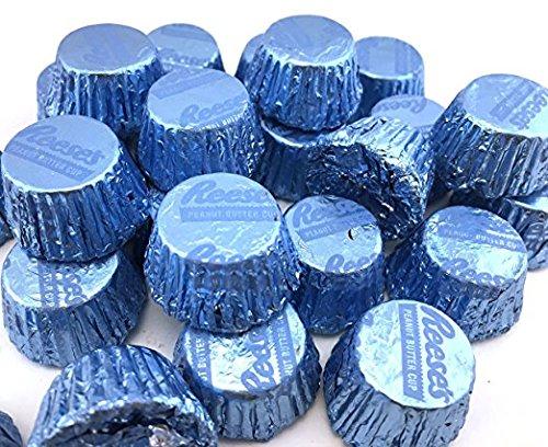 Reese's Light Blue Miniatures Peanut Butter Cups Milk Chocolate (Pack of 2 Pounds) (Light Flavor Butter)