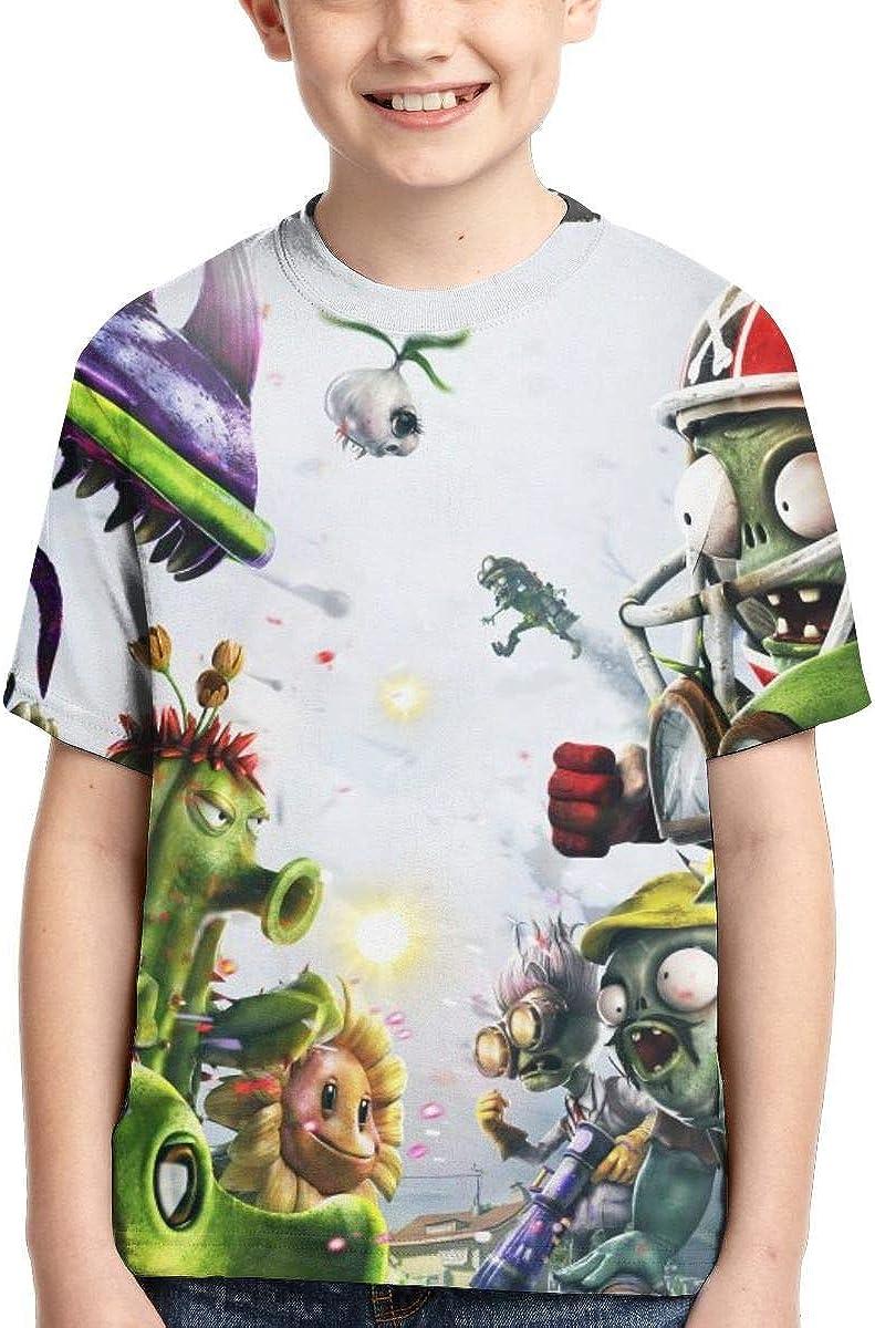 KATHERINECOLE Plants Vs Zombies Garden Warfare Kids Boys 3D Graphic T Shirt 6T-16T