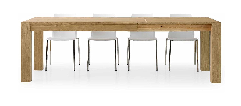 Design Tisch ausziehbar Holz, Eiche natur gebürstet 180–280x 90
