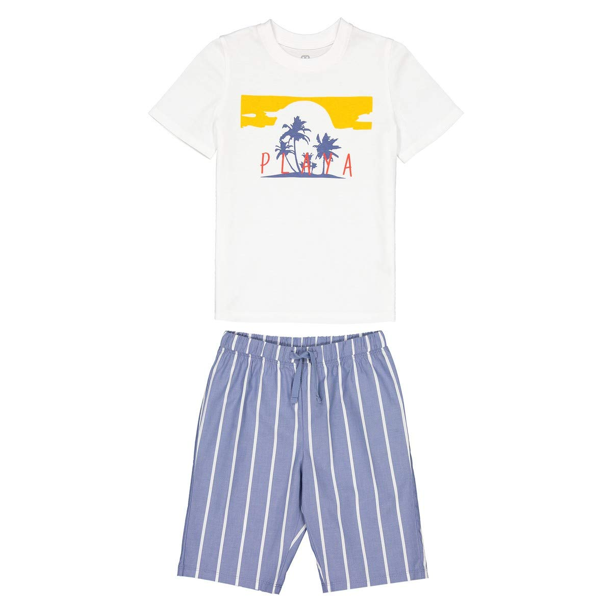 La Redoute Collections Big Boys Dual Fabric Short Pyjamas 3-12 Years