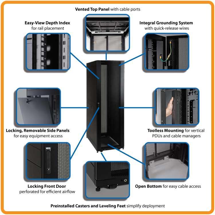 Amazon Com Tripp Lite Sr48ub 48u Rack Enclosure Server