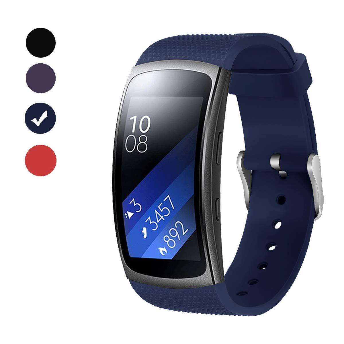BeYselfür Samsung Gear Fit 2 Pro Fit 2 Armband Soft Silikon Sport Armband Ersatzband Gurte Für Samsung Gear Fit 2 Pro SM R365 Und Gear Fit 2 SM R360 Smartwatch