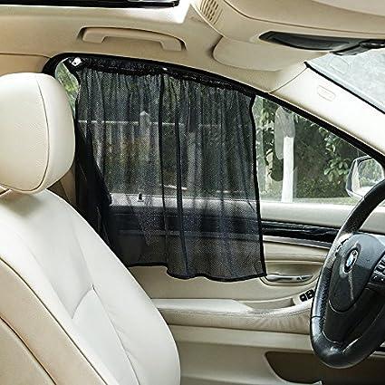 Hjjh Auto Fenster Mit Gardinen Gardinen Sonnenschirm Für Leicht Öffnen Und Schließen Uv Schutz Geschützten Auto Baby Sport Freizeit