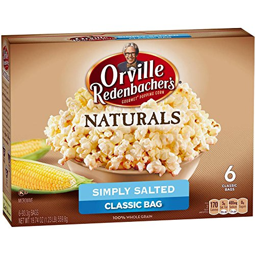 Orville Redenbacher Natural Simply Salted Microwave Popcorn  6 Count  19 74 Ounces