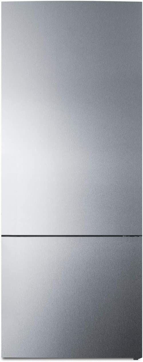 "Summit Appliance FFBF279SS 28"" Wide Bottom Freezer Refrigerator, ENERGY STAR Certified, 14.8 cu.ft Capacity, Digital Temperature Control, Frost-free Operation, Full-width Door Racks"