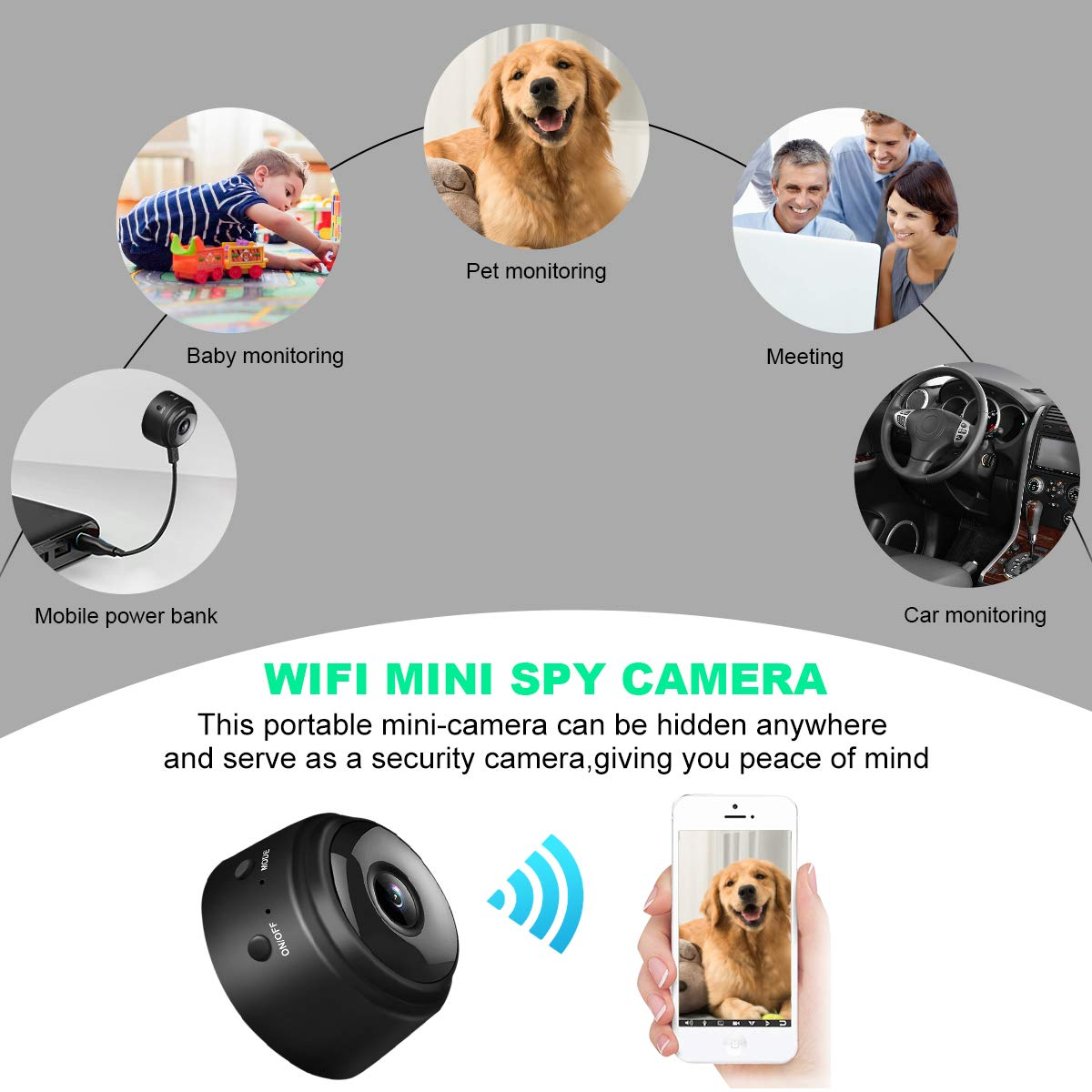 Amazon.com : Mini Hidden Spy Camera, 1080P HD WiFi Hidden Camera Wireless Security Cameras/Nanny Cam/Surveillance Camera with Video Recorder Motion ...