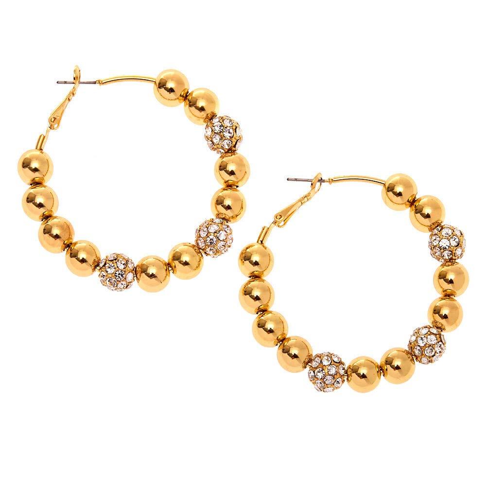 Amazon com: Icing Women's Gold 50MM Fireball Hoop Earrings