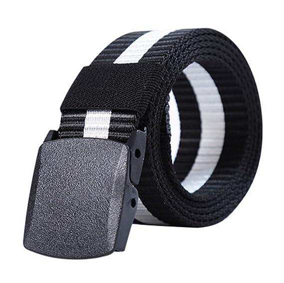 swall owuk Unisex Militar Táctica Canvas Cinturón Webbing plástico Cinturón Camo Cinturón con hebilla 3 PzmUFFSAk