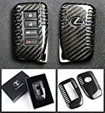 LUXURY CARBON FIBER PROTECTIVE HARD KEY CASE COVER FOR LEXUS KEYLESS ENTRY SMART FOB- 2013 & UP MODEL