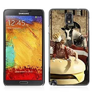 YOYOSHOP [Abstract Cow Chasing Man] Samsung Galaxy Note 3 Case