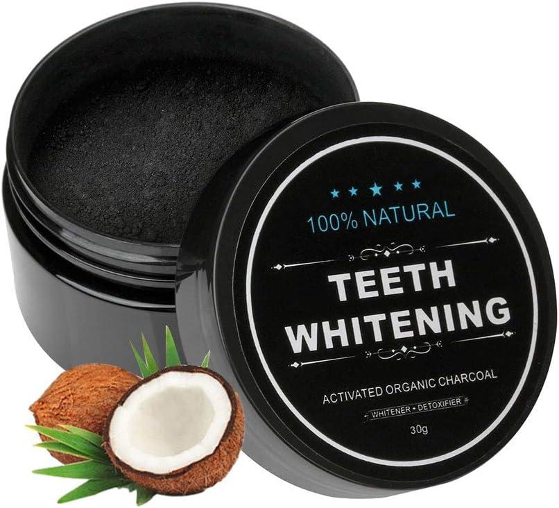 Platz 3 – Aktivkohle Pulver Zähne Natürliche Kokosnuss Zahnaufhellung