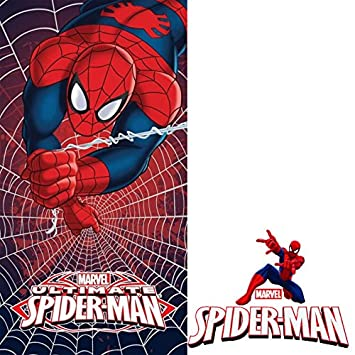 Herding Velourstuch Ultimate Spiderman Baumwolle Mehrfarbig 150 x 75 cm