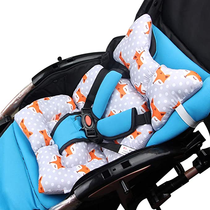 Warm Baby Cartoon Animal Chair Seat Cushion Cotton Mattress Pad Pillow Case Stroller Car Thick Seat Liners Safety Equipment